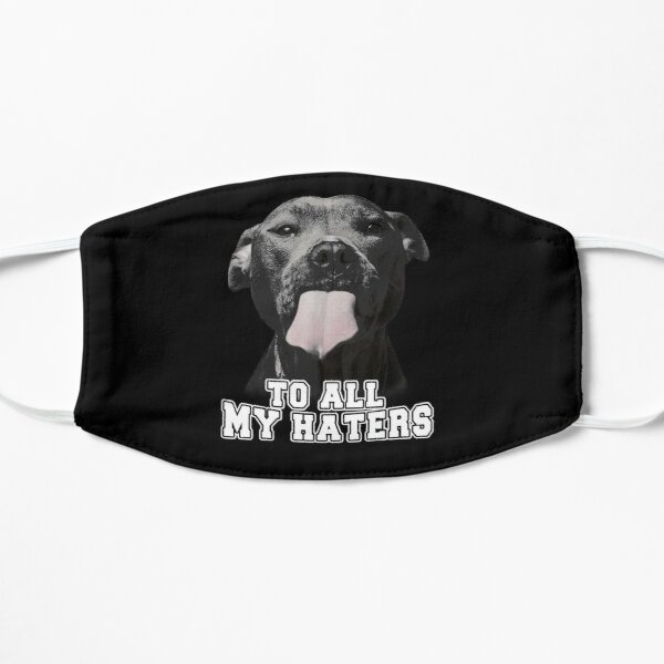 FUNNY PITBULL TO ALL MY HATERS Flat Mask