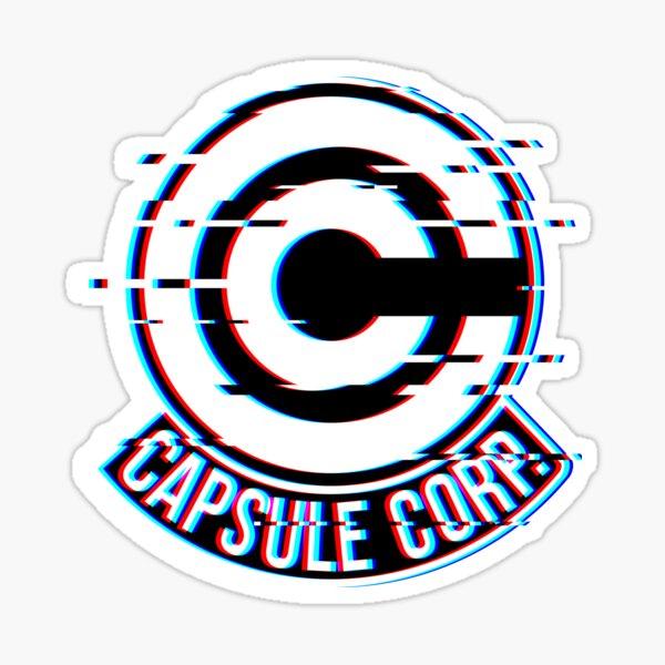 Glitch dans la Capsule Corp Sticker