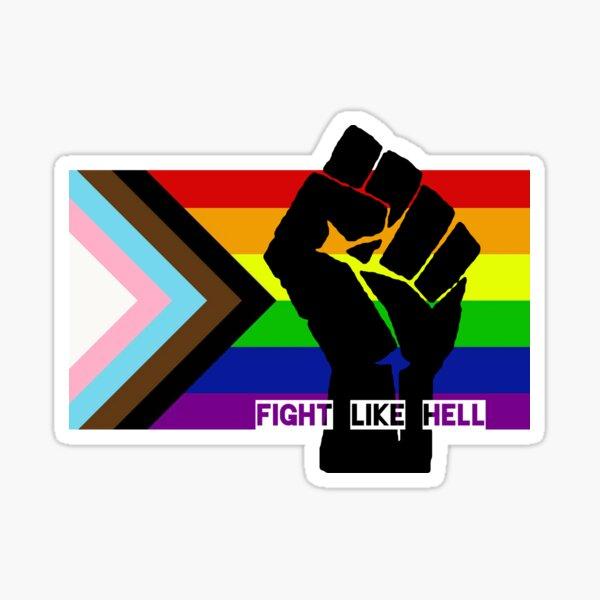 Fight Like Hell Sticker