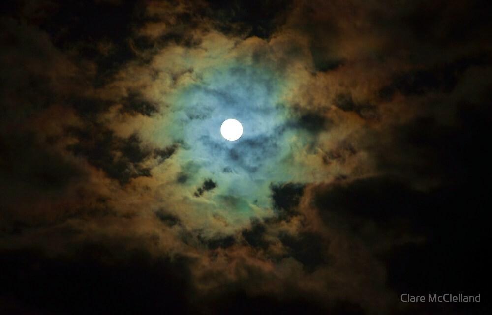 Full Moon Skyscape May 2013 by Clare McClelland
