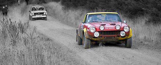 Fiat 124 Abarth Rally Car Splash Of Colour Posters By Thomas
