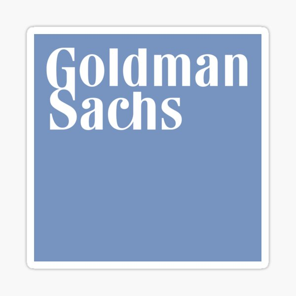 Goldman Sachs logo Sticker