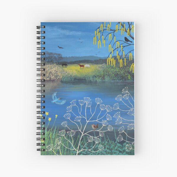 Kingfisher Blue Spiral Notebook