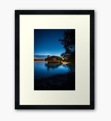 The Wrecks of Homebush Bay Framed Print