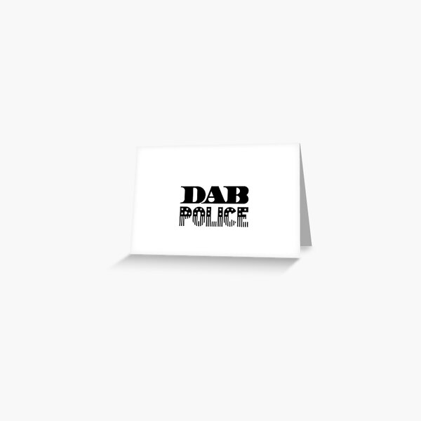 DAB Police Greeting Card