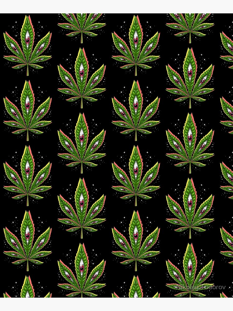 Psychedelic Weed Leaf by underheaven