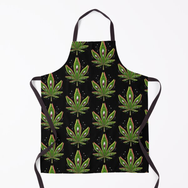Psychedelic Weed Leaf Apron