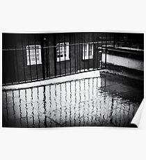 Rain and balcony Poster
