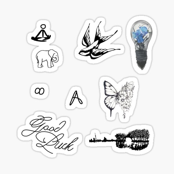 collection de tatouages shawn mendes Sticker