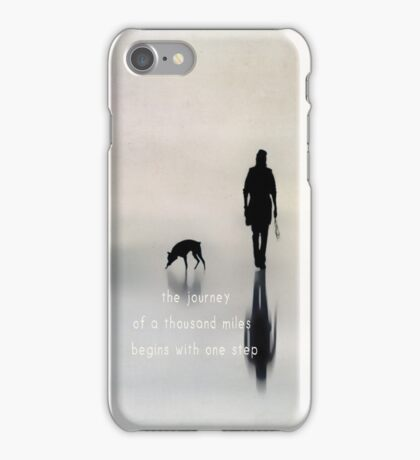 the journey of a thousand miles begins with one step iPhone Case/Skin