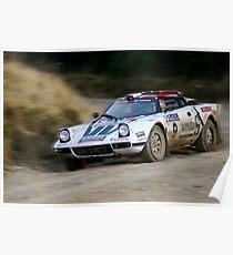 Lancia Stratos HF Rally Car 2 Poster