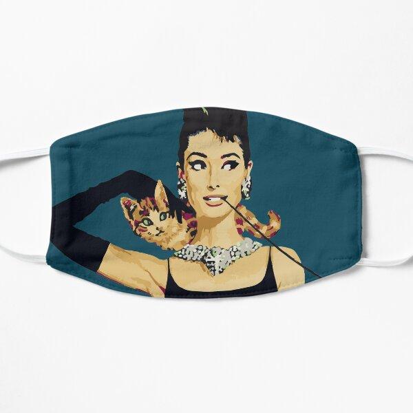 Breakfast at Tiffanys   Audrey Hepburn Blue Flat Mask