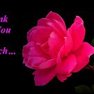 Thank You...greeting card by RoseMarie747