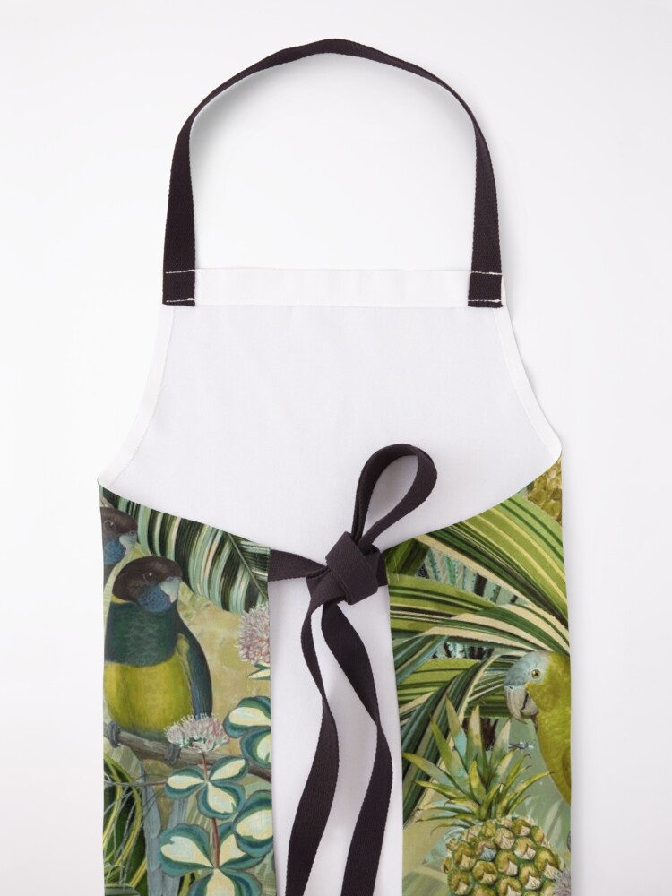 Alternate view of Vintage Green Tropical Bird Jungle Garden Apron