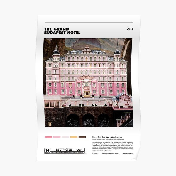 The Grand Budapest Hotel - Affiche minimaliste Poster