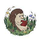 Hedgehog Reading A Book by laurxy