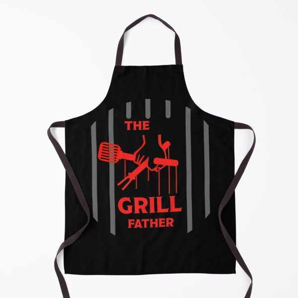 The Grill Father - Funny BBQ Apron Gift - Comedy BBQ Apron - Best BBQ Gifts Apron