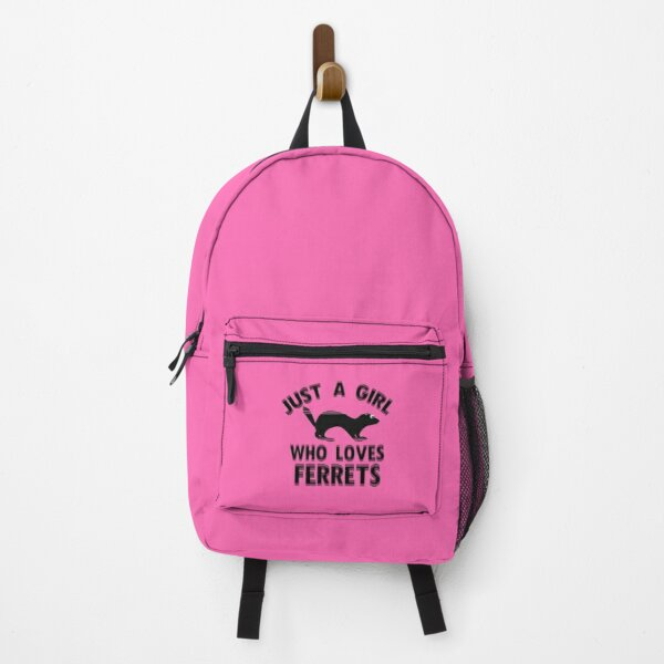 Just A Girl Who Loves Ferrets  Backpack