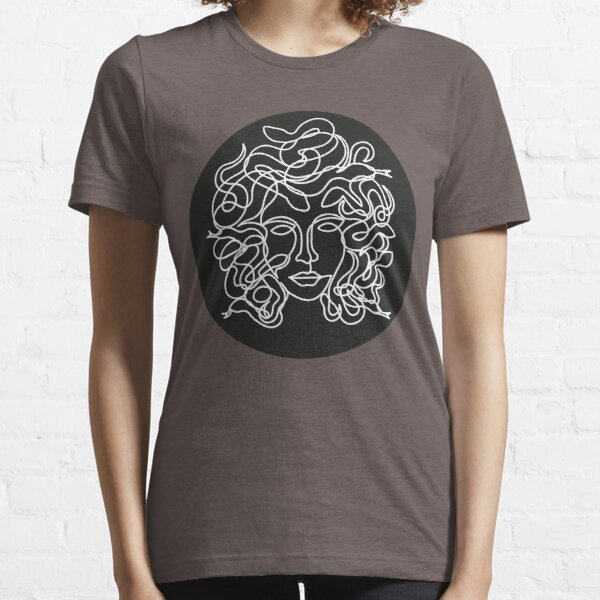 Medusa Face in single line style Essential T-Shirt