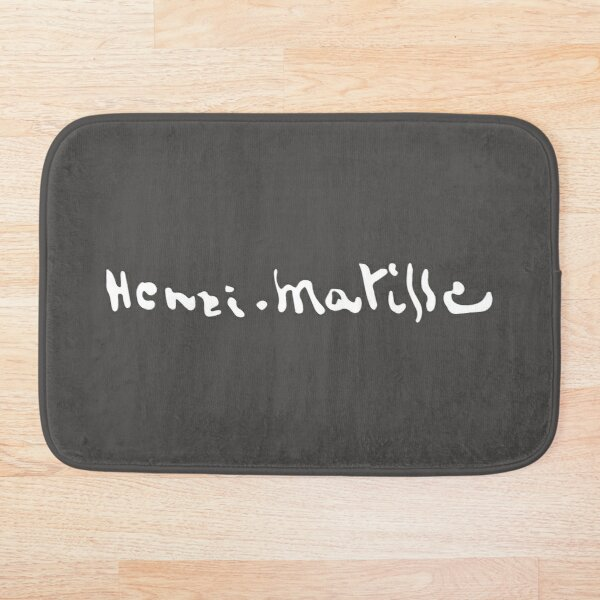 Henri Matisse Signature, White Artwork for Wall Art, Prints, Posters, Tshirts, Men, Women, Kids Bath Mat