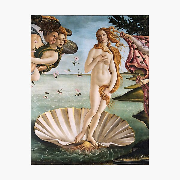 Birth of Venus by Botticelli, Classic Art Photographic Print