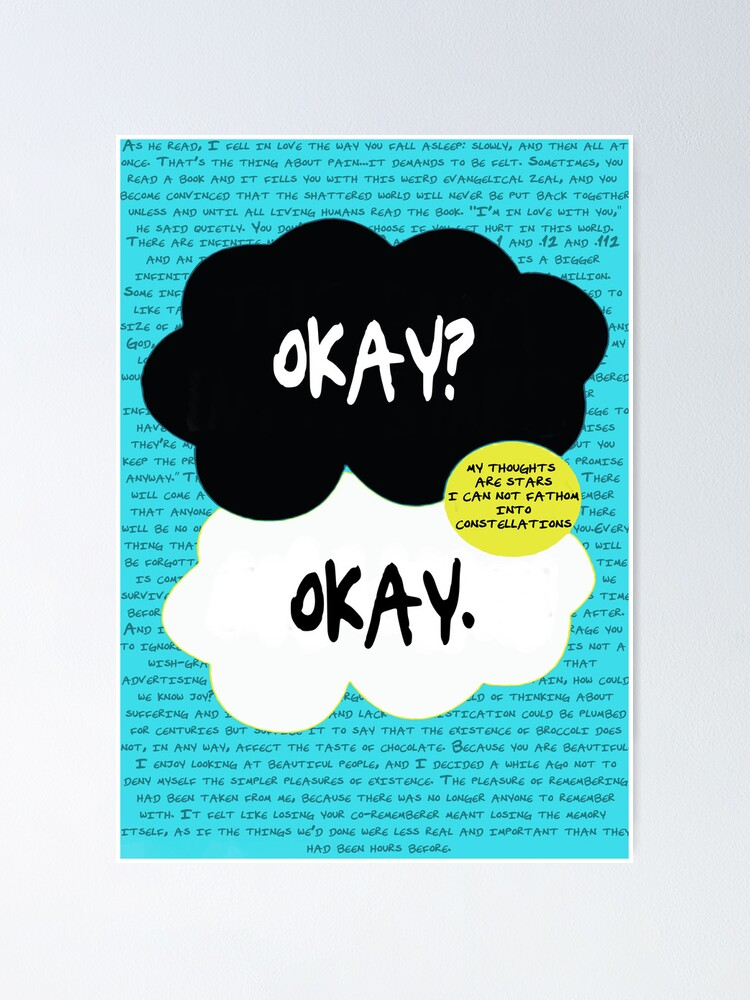 Alternate view of The fault in our stars. Poster
