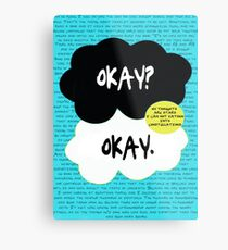 The fault in our stars. Metal Print