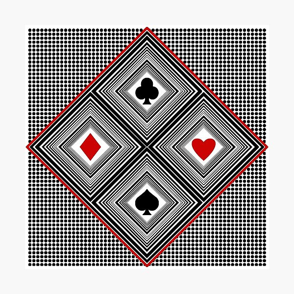 Playing Cards Photographic Print