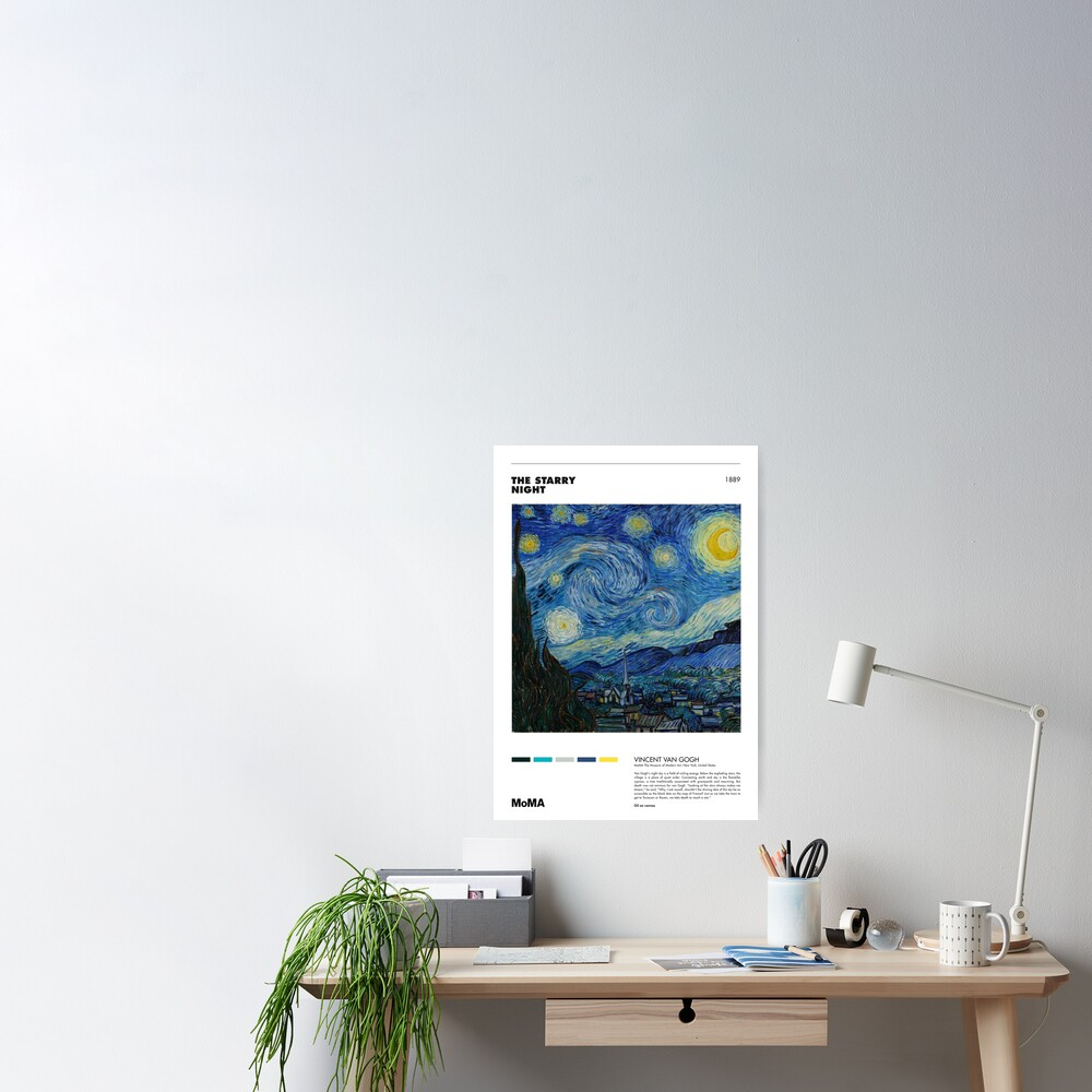 Vincent Van Gogh - Starry Night - Minimalist Art Poster Series Poster