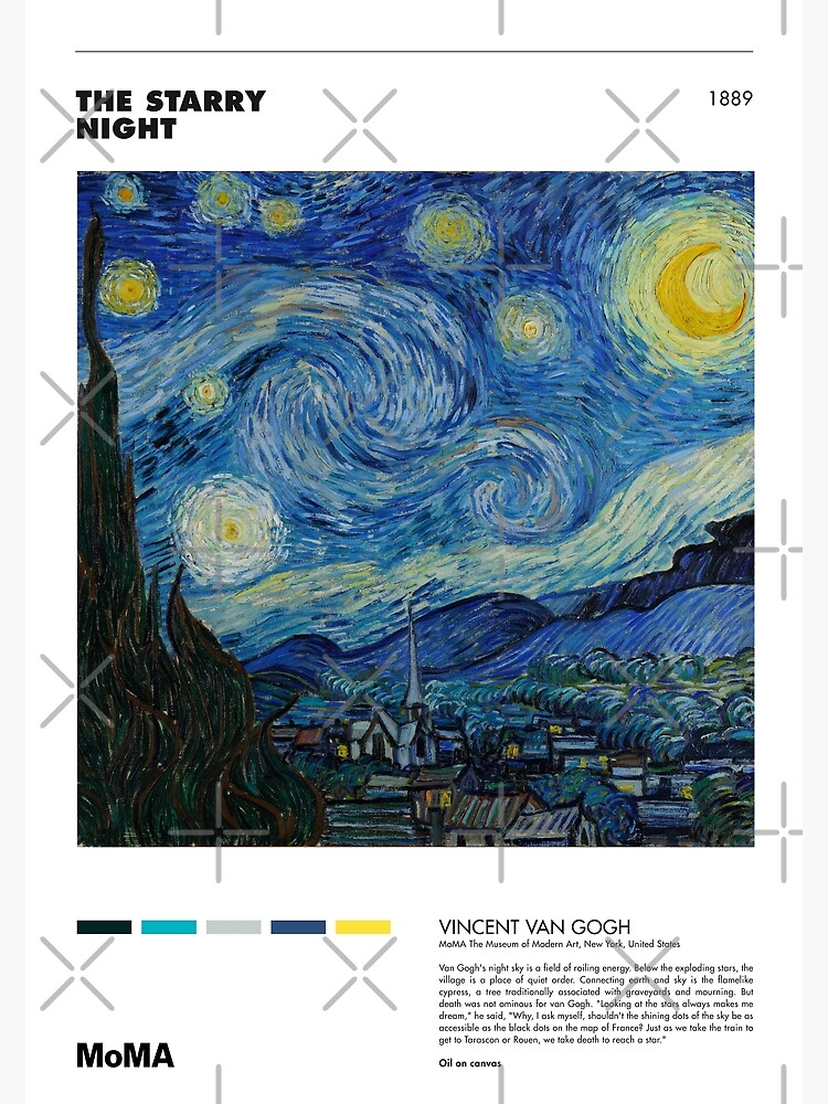 Vincent Van Gogh - Starry Night - Minimalist Art Poster Series by franciscouto