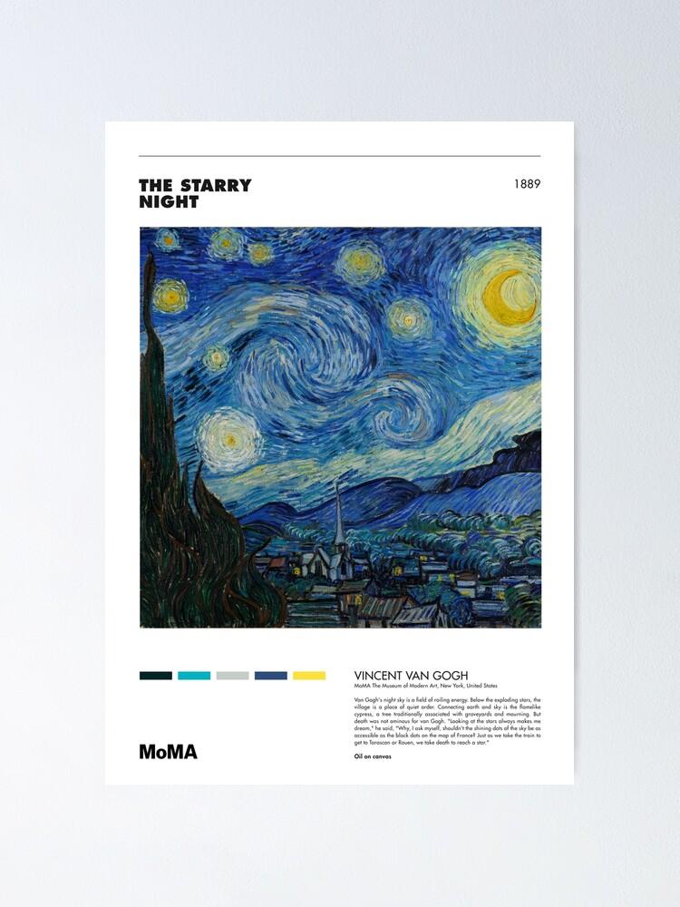 Alternate view of Vincent Van Gogh - Starry Night - Minimalist Art Poster Series Poster