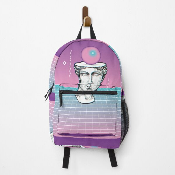 Vaporwave Retro Statue Drawing  Backpack