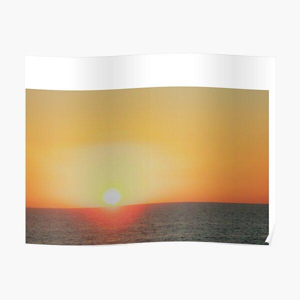 Sunset off Harvey Bay Poster