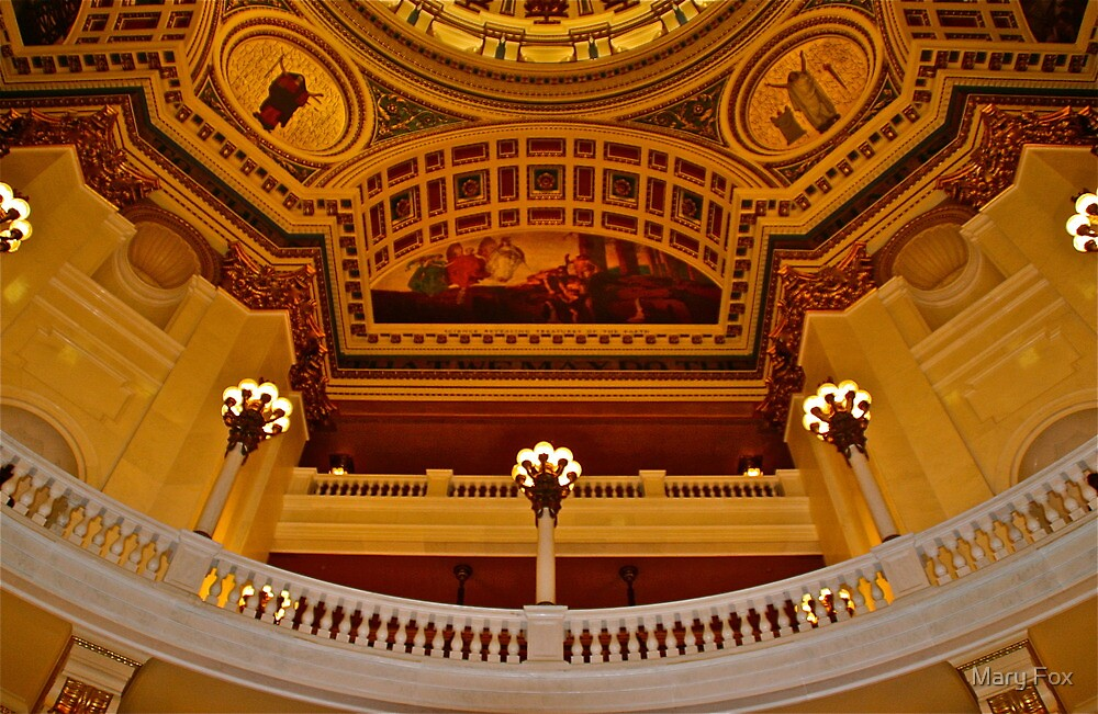 Pennsylvania State Capitol Rotunda….at least part of it by Mary Fox