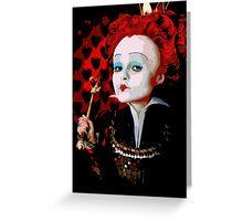 Alice in Wonderland Queen of Hearts Multi-Layer Stencil Vector Greeting Card