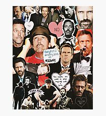 Hugh Laurie Collage Photographic Print
