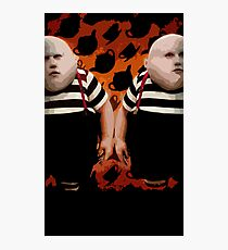 Alice in Wonderland Tweedledum and Tweedledee Multi-Layer Stencil Vector Photographic Print
