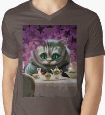 Alice in Wonderland Cheshire Cat Multi-Layer Stencil Vector T-Shirt