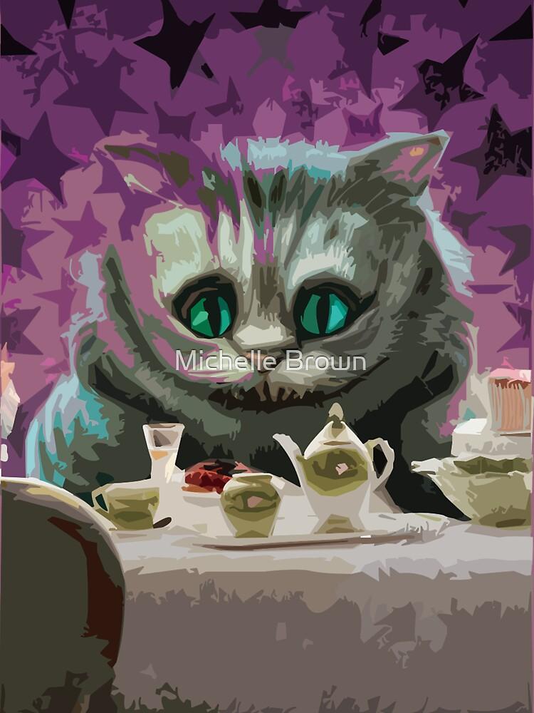 Alice in Wonderland Cheshire Cat Multi-Layer Stencil Vector by Michelle Brown