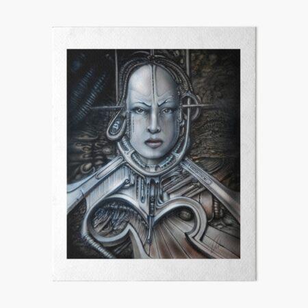 Biomechanisches Portrait Galeriedruck