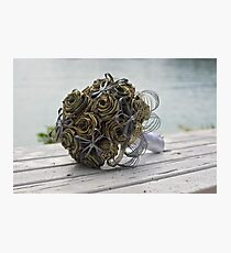 Bridal flax flowers Photographic Print