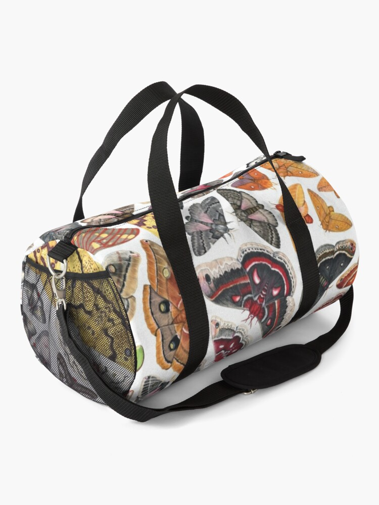 Alternate view of Saturniid Moths of North America Pattern Duffle Bag