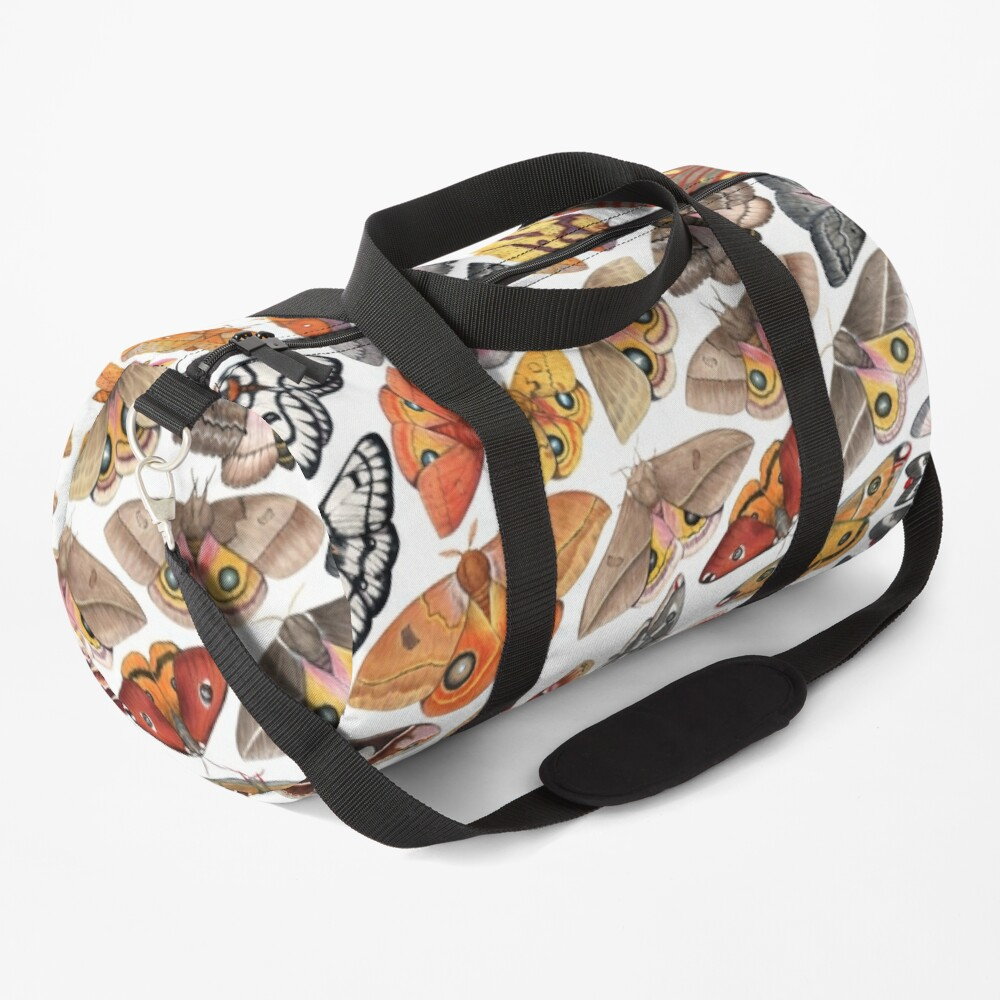 Saturniid Moths of North America Pattern Duffle Bag