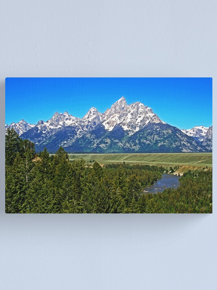 Entering Grand Teton National Park Wyoming Canvas Print By Jukeboxpunk Redbubble