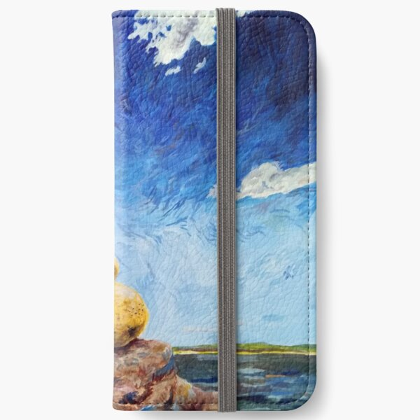 Ein Versammlung von goldenen Birnen iPhone Flip-Case