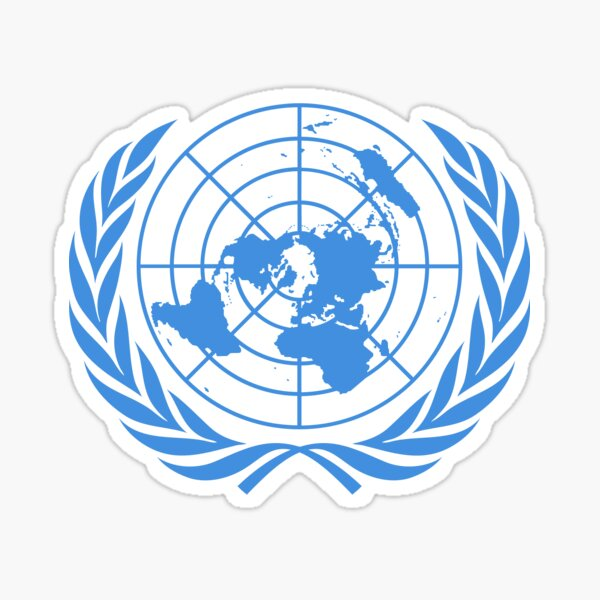 U.N Logo apparel  Sticker