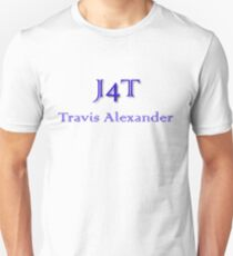 J4T with Name in Blue Lettering Unisex T-Shirt