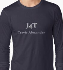 J4T with Name in White Lettering Long Sleeve T-Shirt
