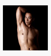 Steve Nude Torso On Black Photographic Print