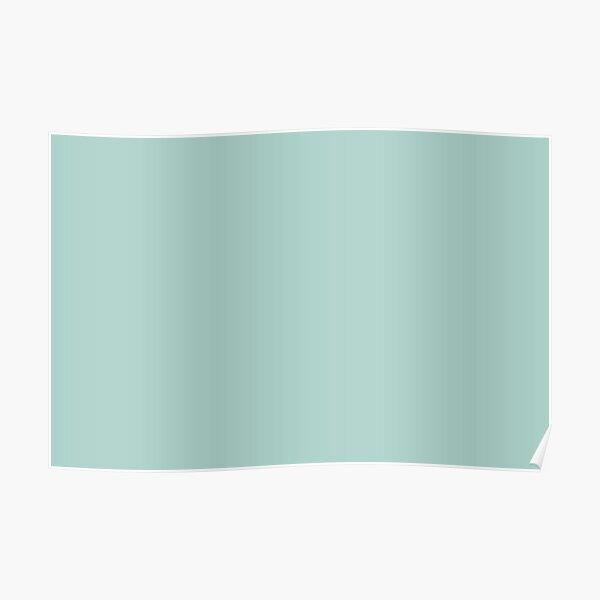 Color sólido azul verde agua pastel claro se empareja con Sherwin Williams Blue Sky SW 0063 Póster
